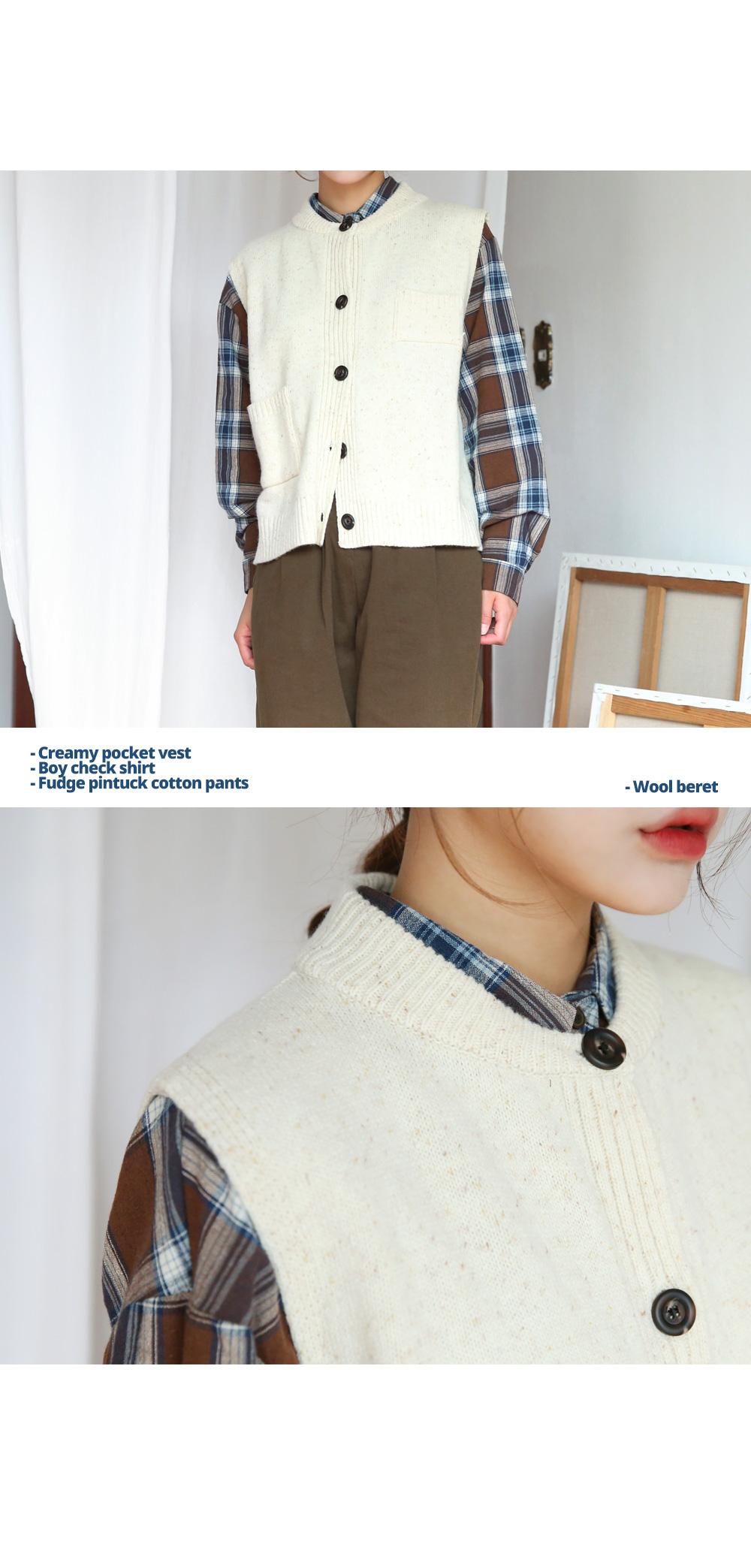 Creamy Pocket Vest