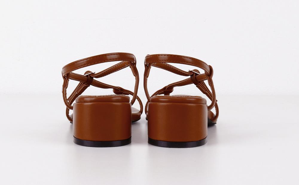 curve strap low heel (3colors)