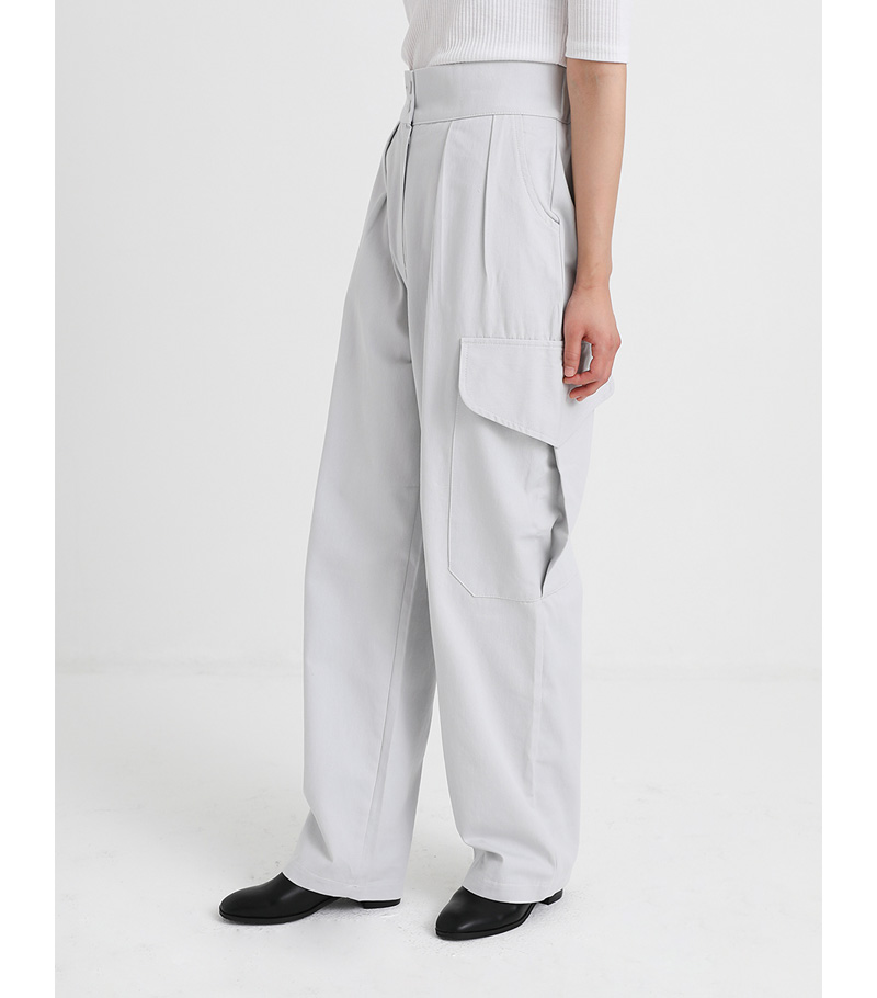 pocket point straight fit cargo pants (3colors)