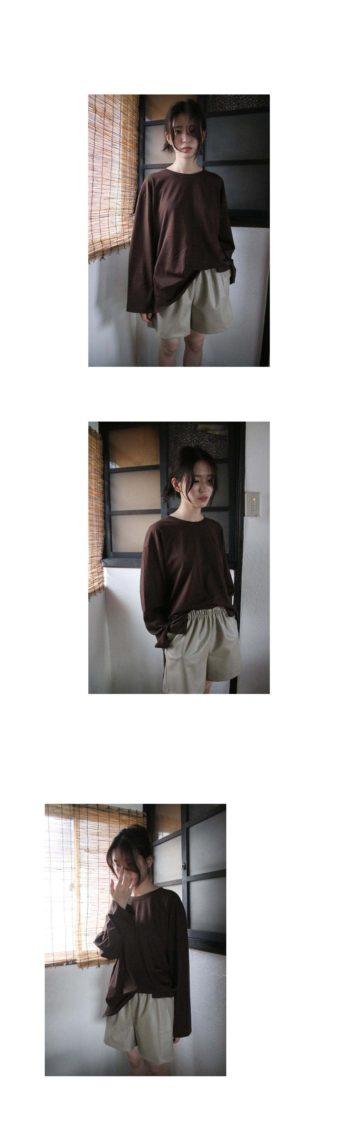 leather short pants(3colors)