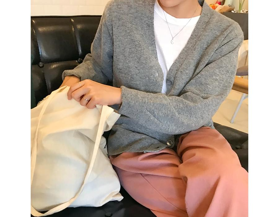 Flat wool cardigan_M (size : free)[예약주문 : 10월 04일 입고]