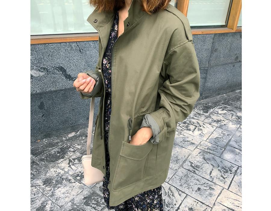 Lala cotton safari jacket_M (size : free)