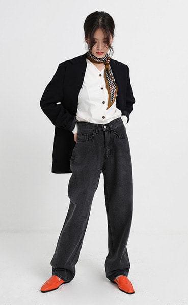 Popular loose fit denim pants (3colors)