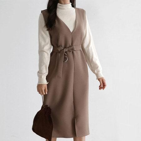 Autumn Belt Dress