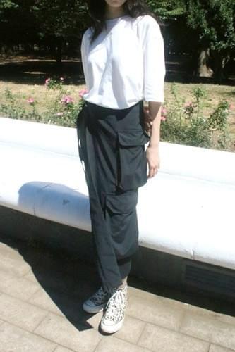 cargo pocket skirt (black)