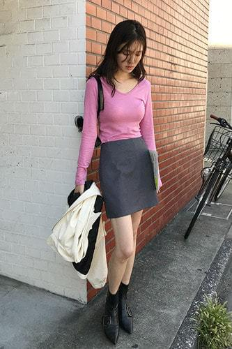 womanly mini skirt (grey)