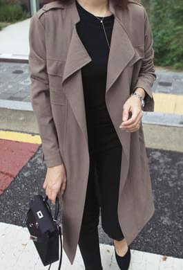 Lightly worn trench long jacket
