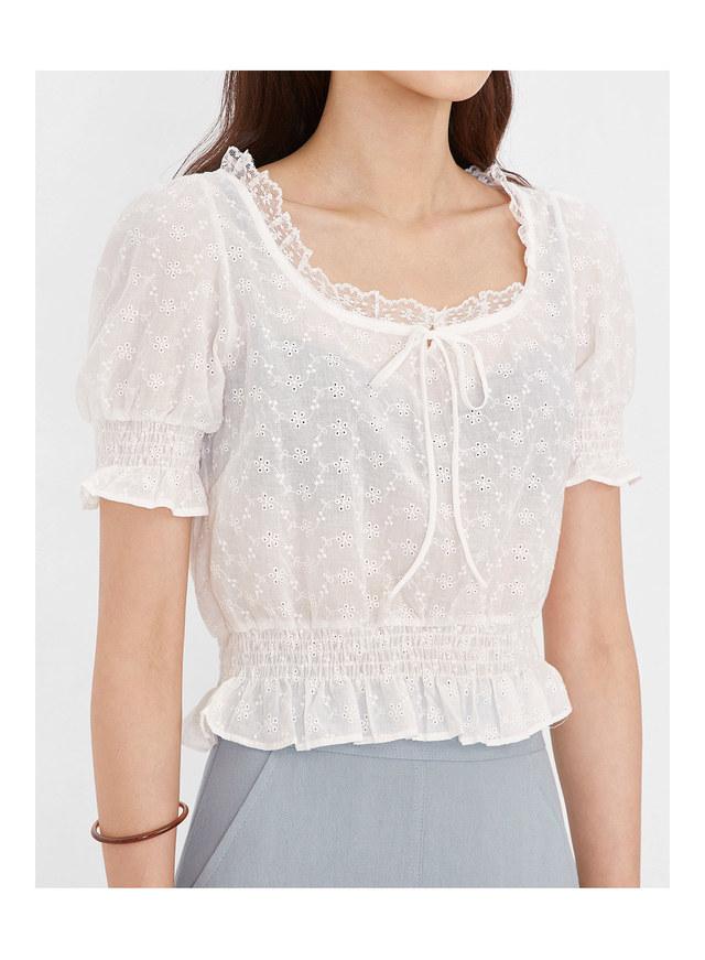 beauty frill lace blouse