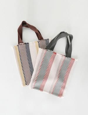 Crunch Vertical Colored Knit Bag