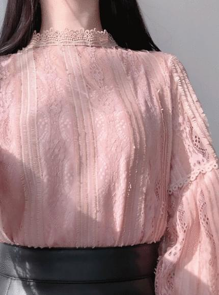 ♥ 4000 pieces break stock discount! Embroidery lace blouse / pink, black, sequential shipping after 20 days!