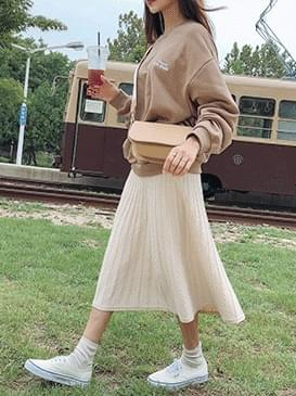 Flare Dutch knit long skirt