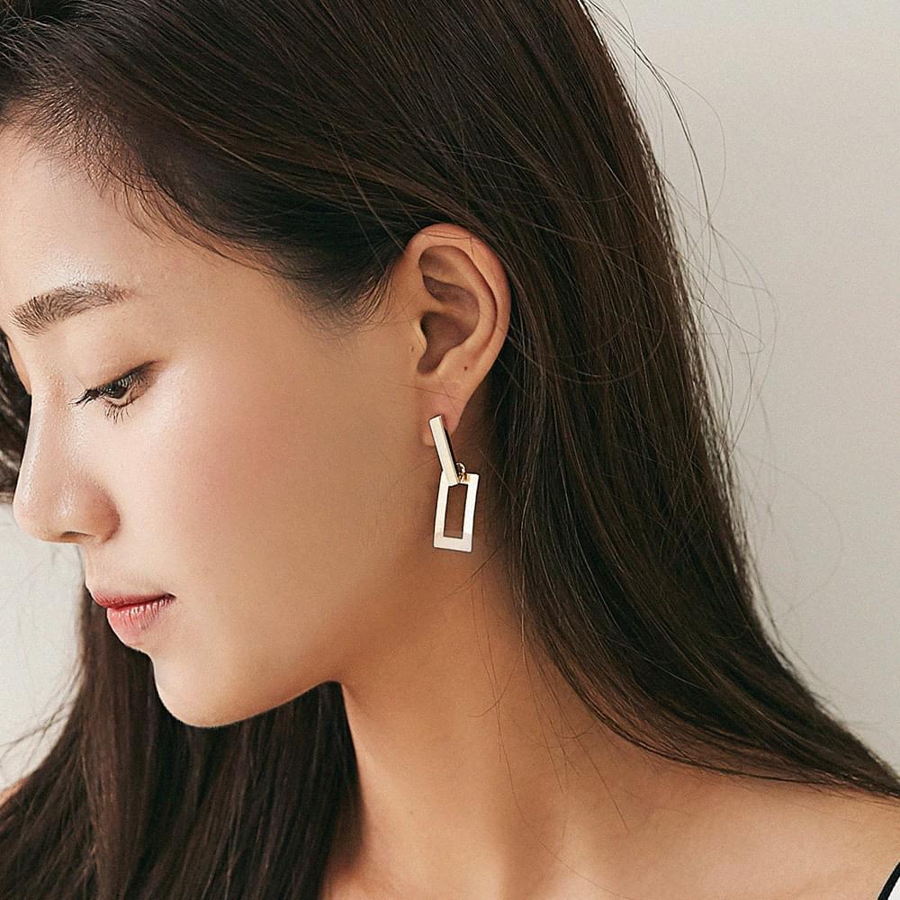 Weed square earrings