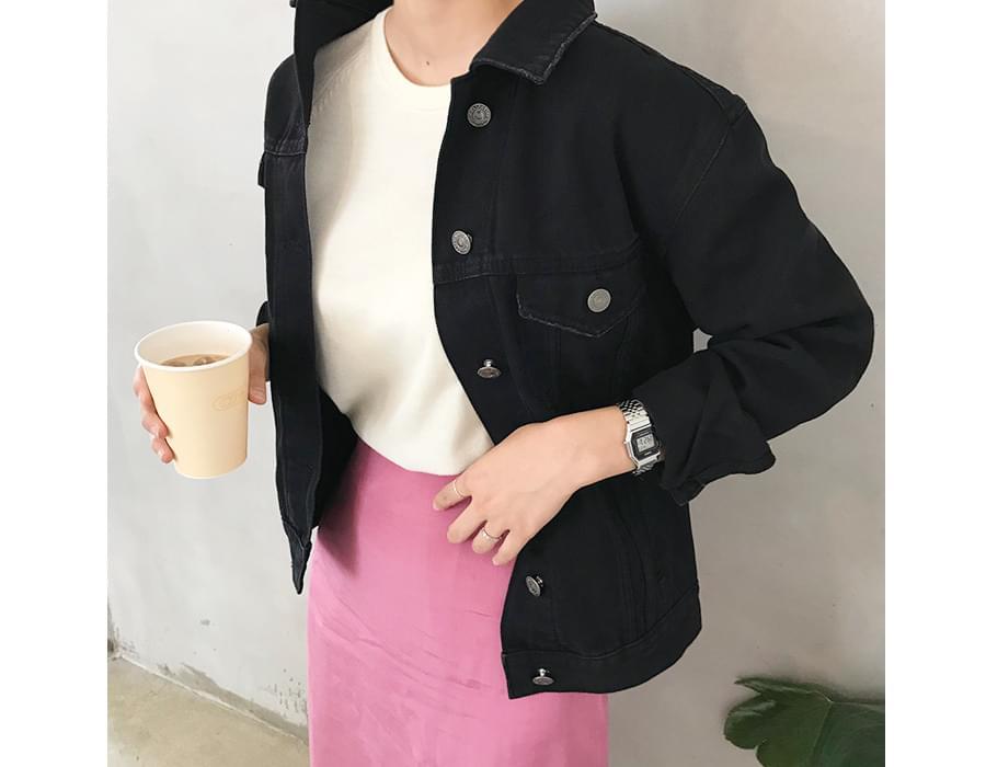 Standard washing cotton jacket_K (size : free)