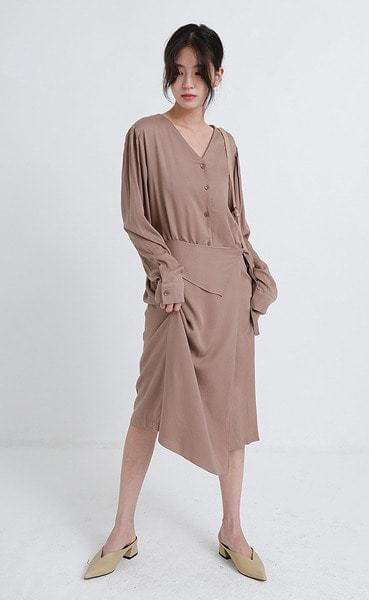 Unbalanced point one-piece (3colors)