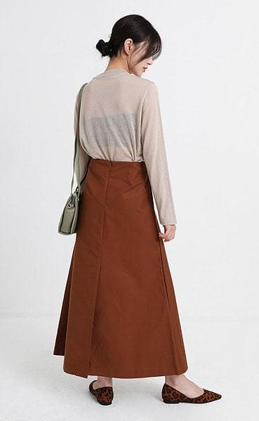 papper daily long skirt (2colors)