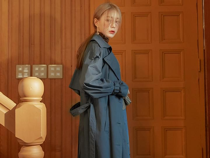 [OUTER] CLASSICAL LONG TRENCH COAT