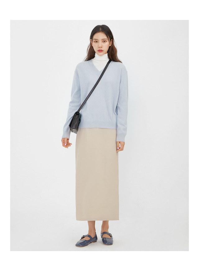 rodin wool v-neck knit