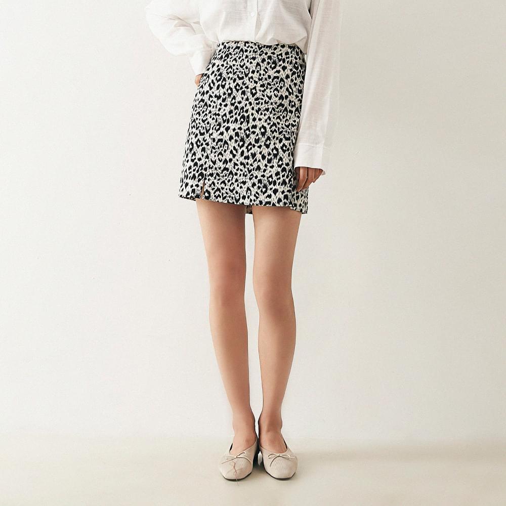Leopard bending skirt