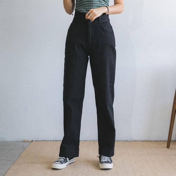 Goofy high long cotton pants