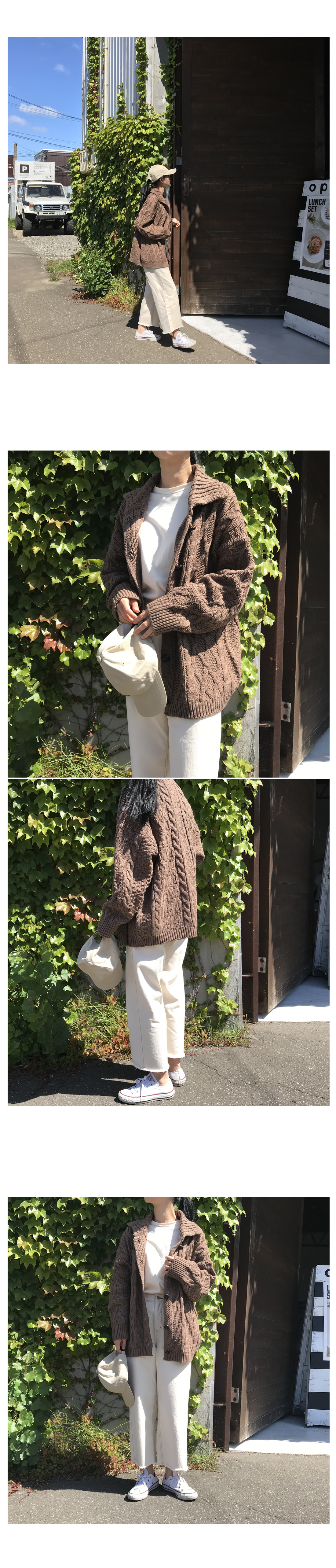 Nacho Karana Knit Cardigan - Cocoa Brown