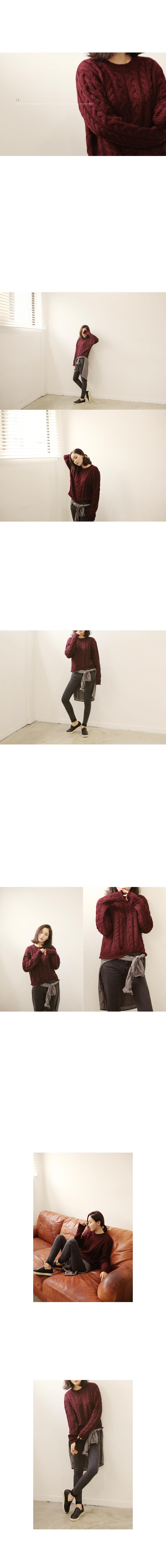 [BOTTOM] BLACK CUTTING SKINNY