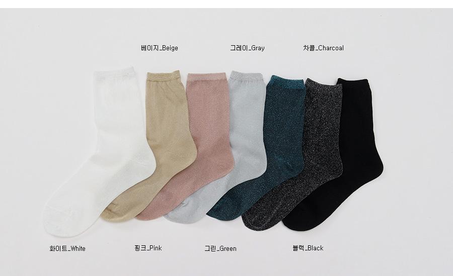 Sparkling pearl socks_K (size : one)