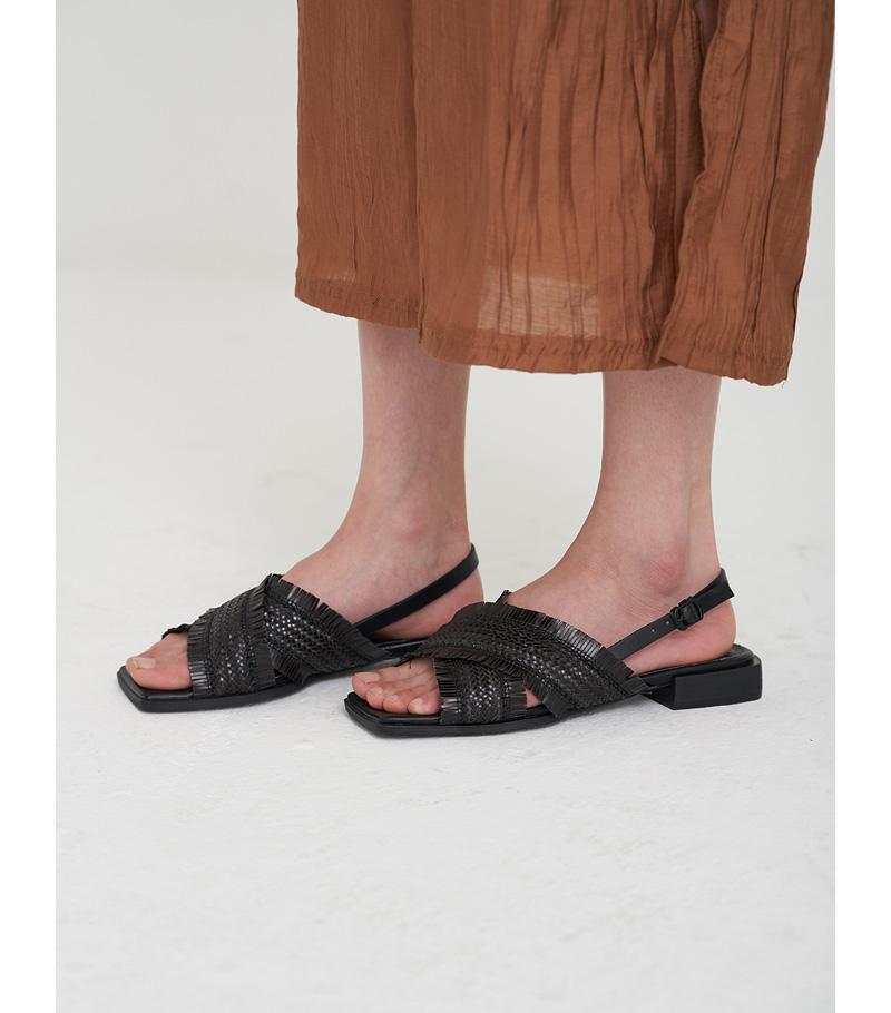 black edit x-strap sandal