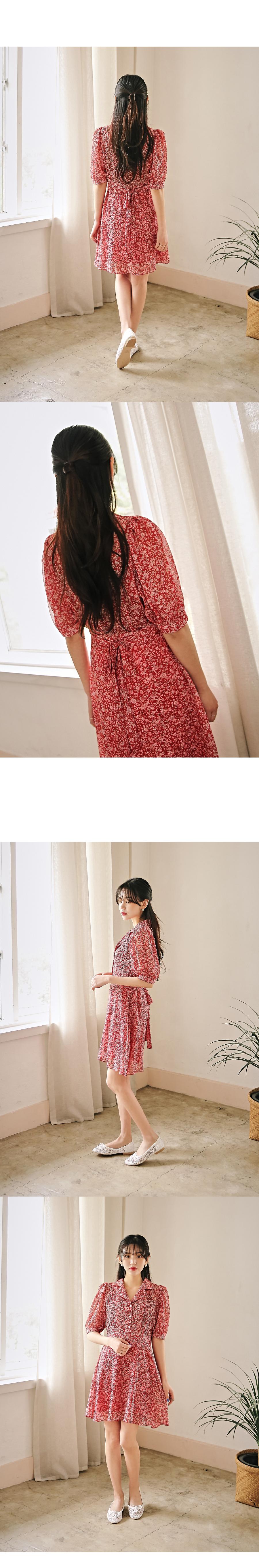 Lime cara chiffon dress
