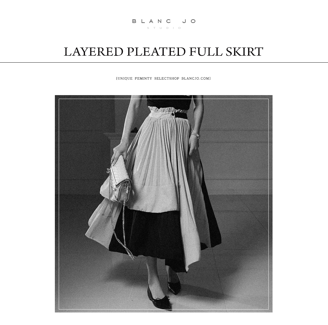 Long layered pleated skirt _sk00953