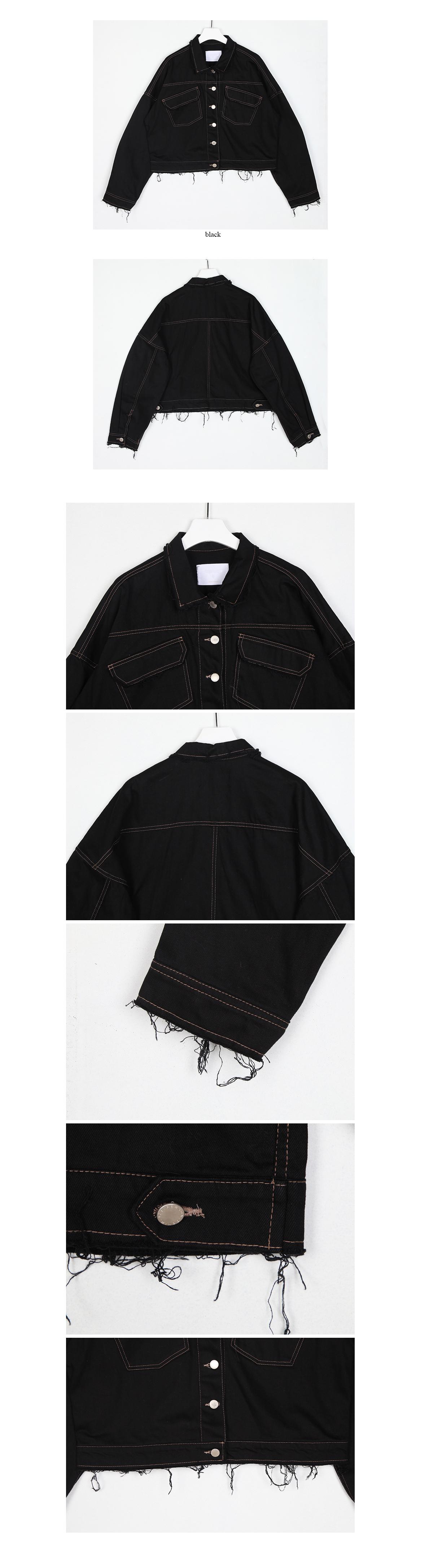stitch short black jacket