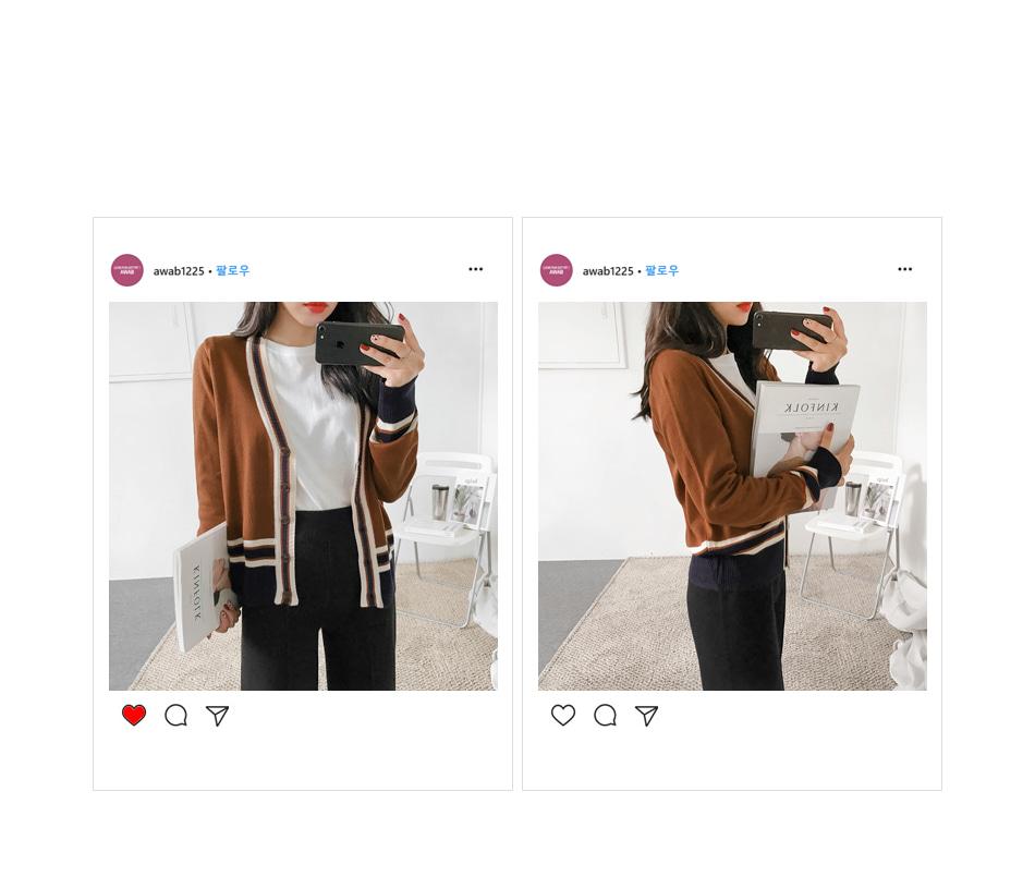 Sizing color cardigan