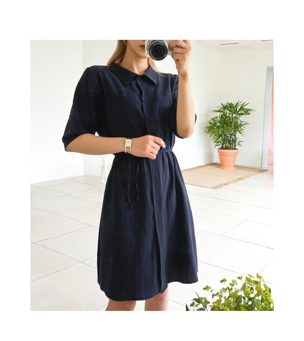 Color short sleeve dress