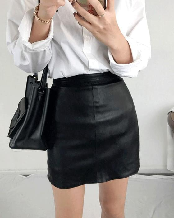 Leather skirt pants