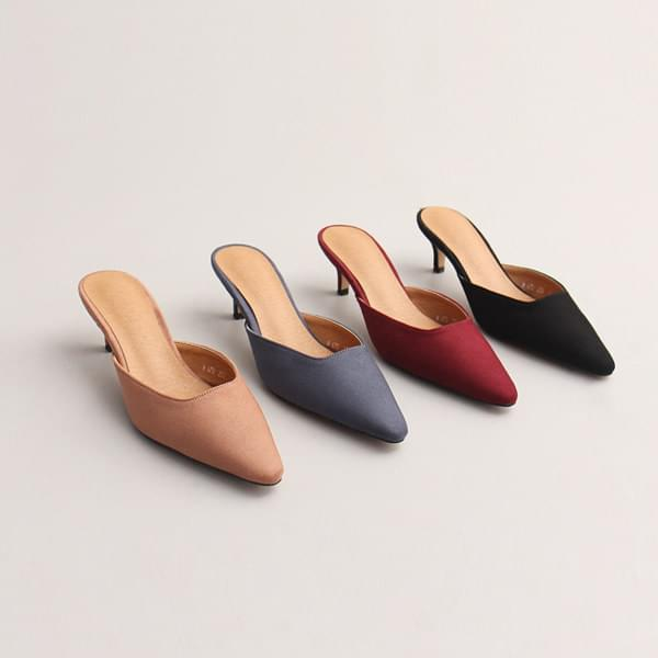 Suede Stiletto Mule Slippers