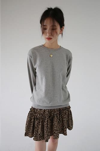 leopard frill mini skirt (2colors)