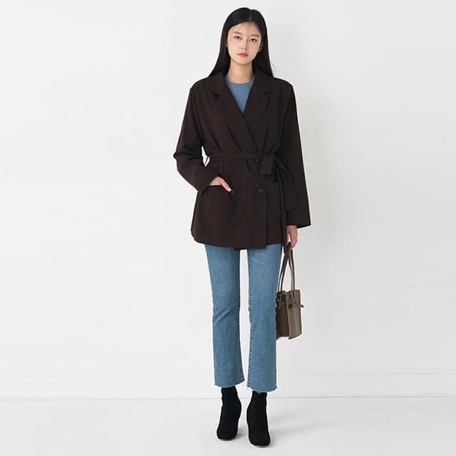 standard fit collar jacket