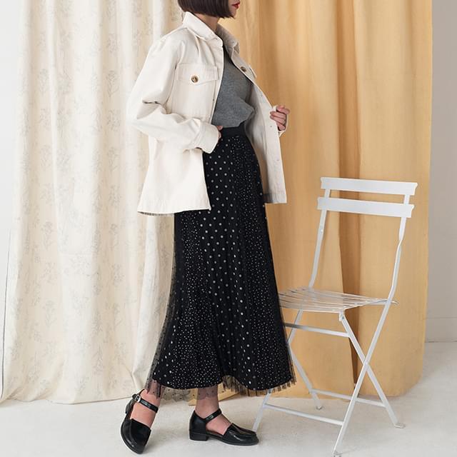 dot pattern banding skirt