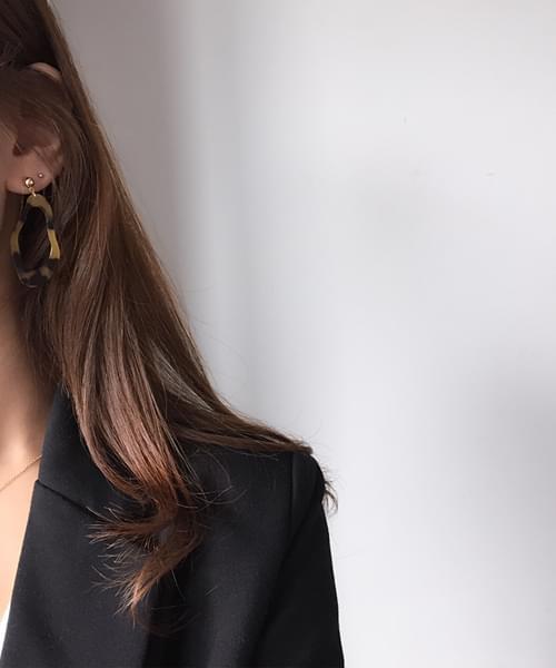 point leopard earring(귀찌변경가능)