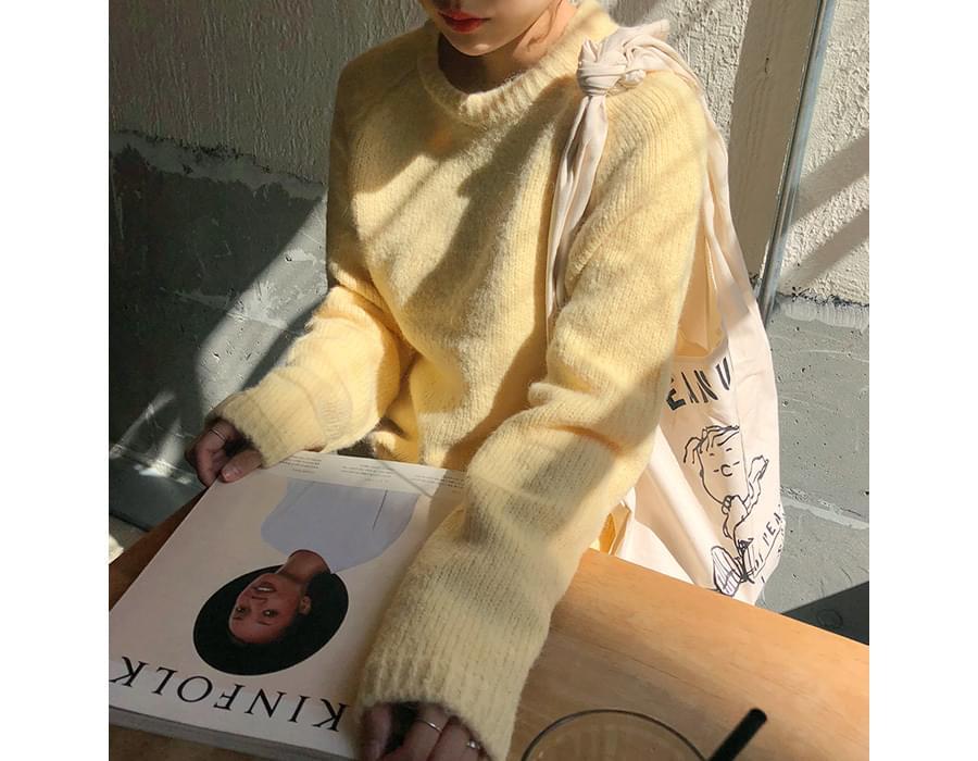 Merci color alpaca knit_M (size : free)