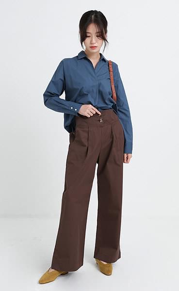 Button high pants (3colors)