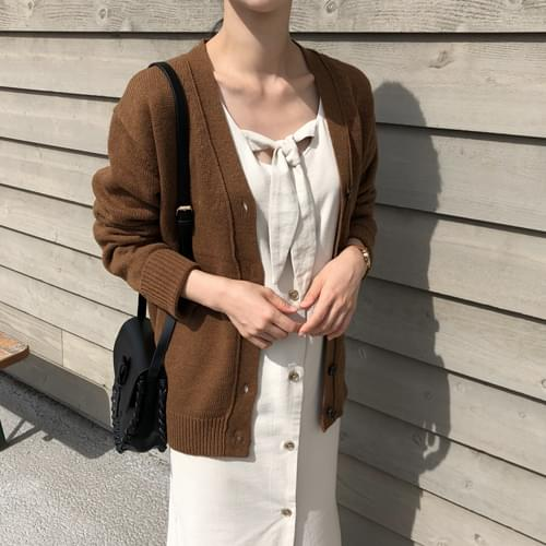 Series knit cardigan