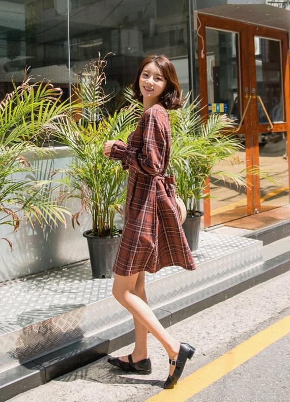 Vivian Check Dress