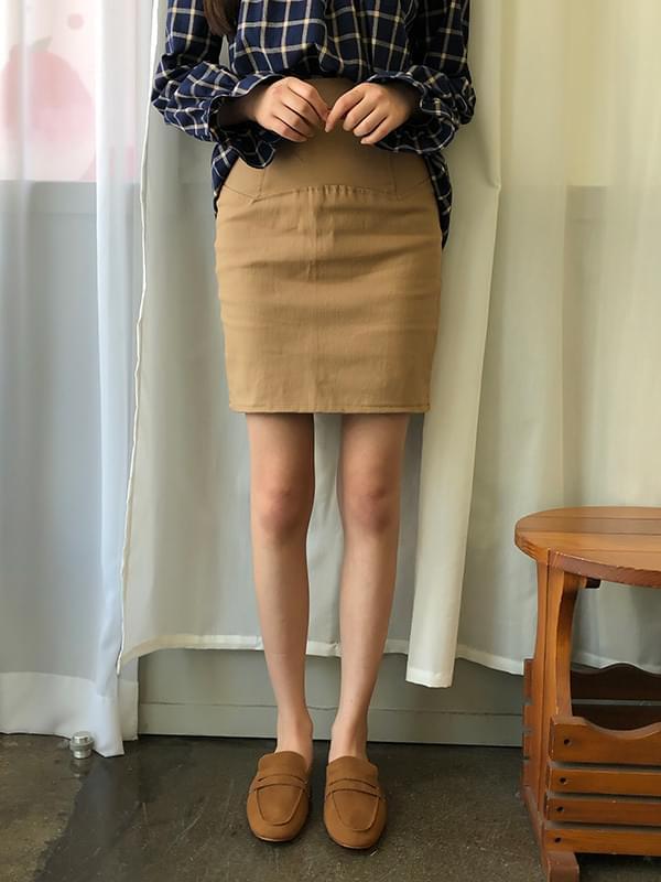 Plain cotton high skirt