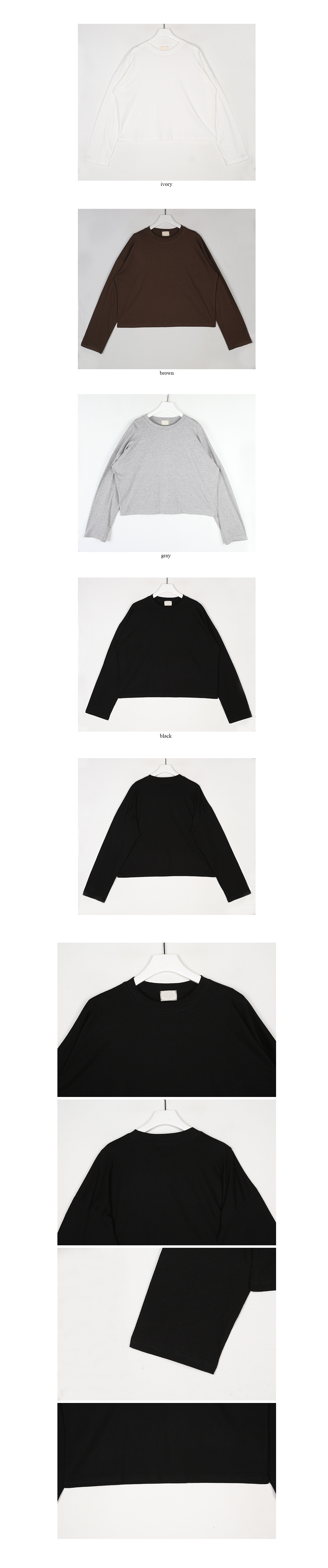 basic crop t-shirt (4colors)