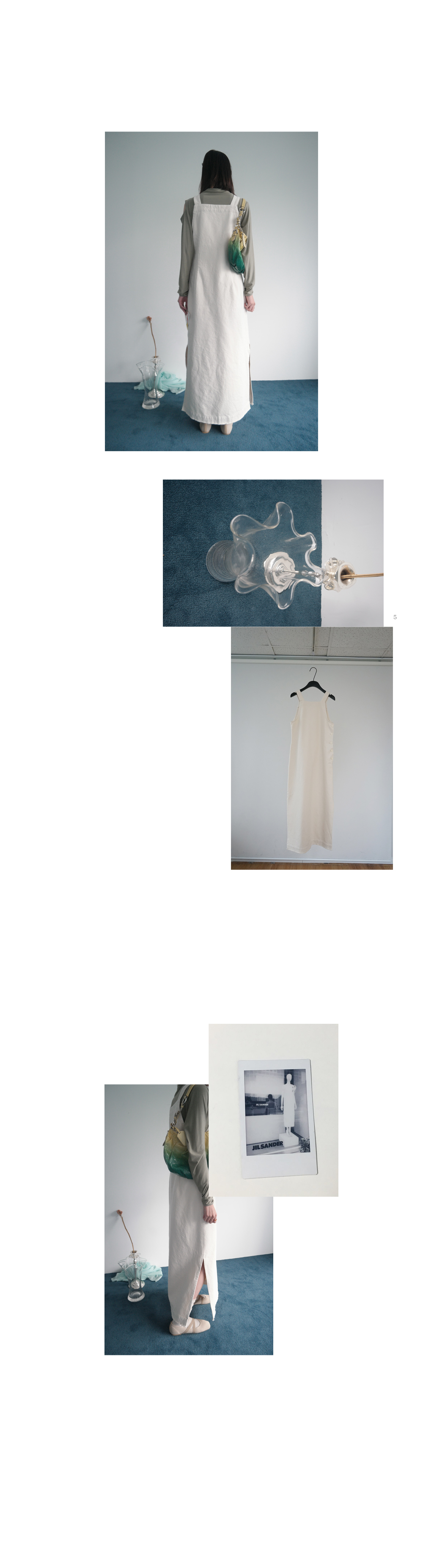 cotton frayed overall one-piece (2colors)