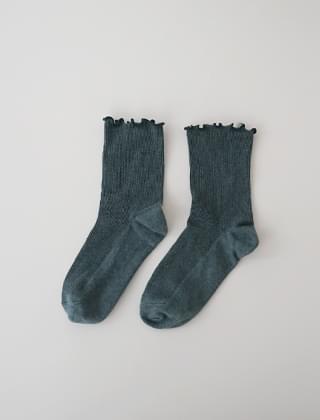 frill stitch ribbed socks (2colors)