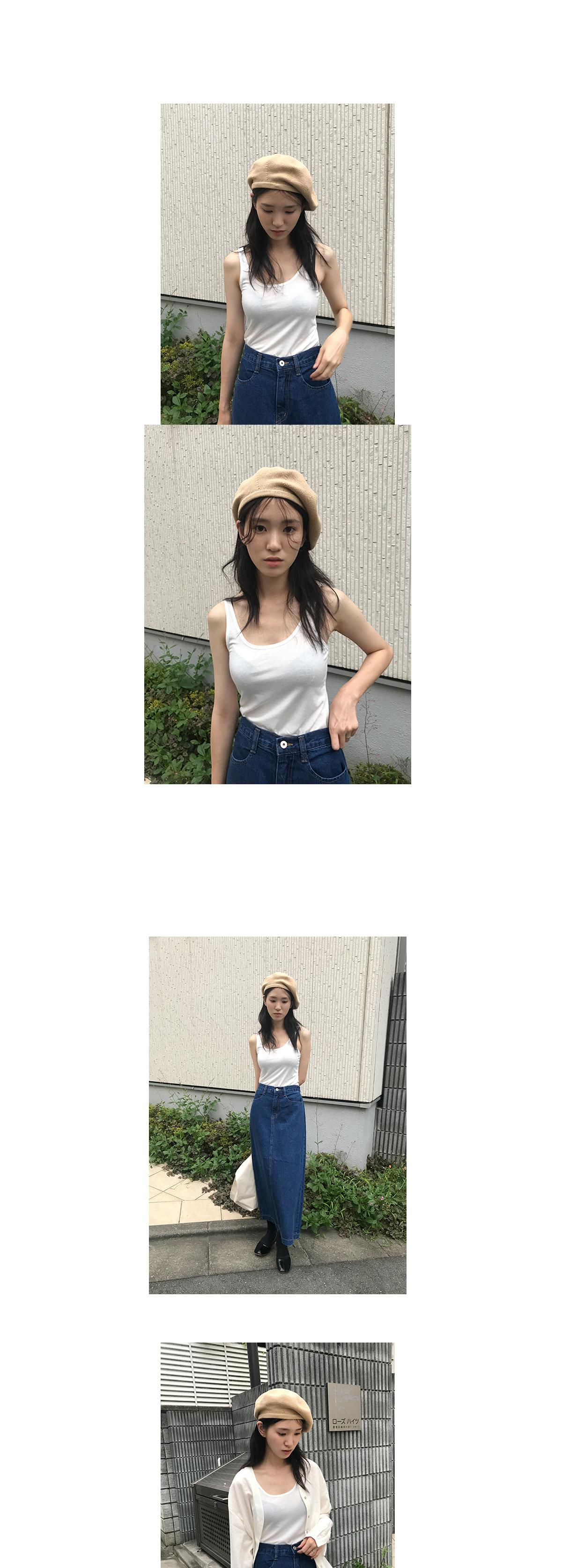 basic slim sleeveless (4colors)