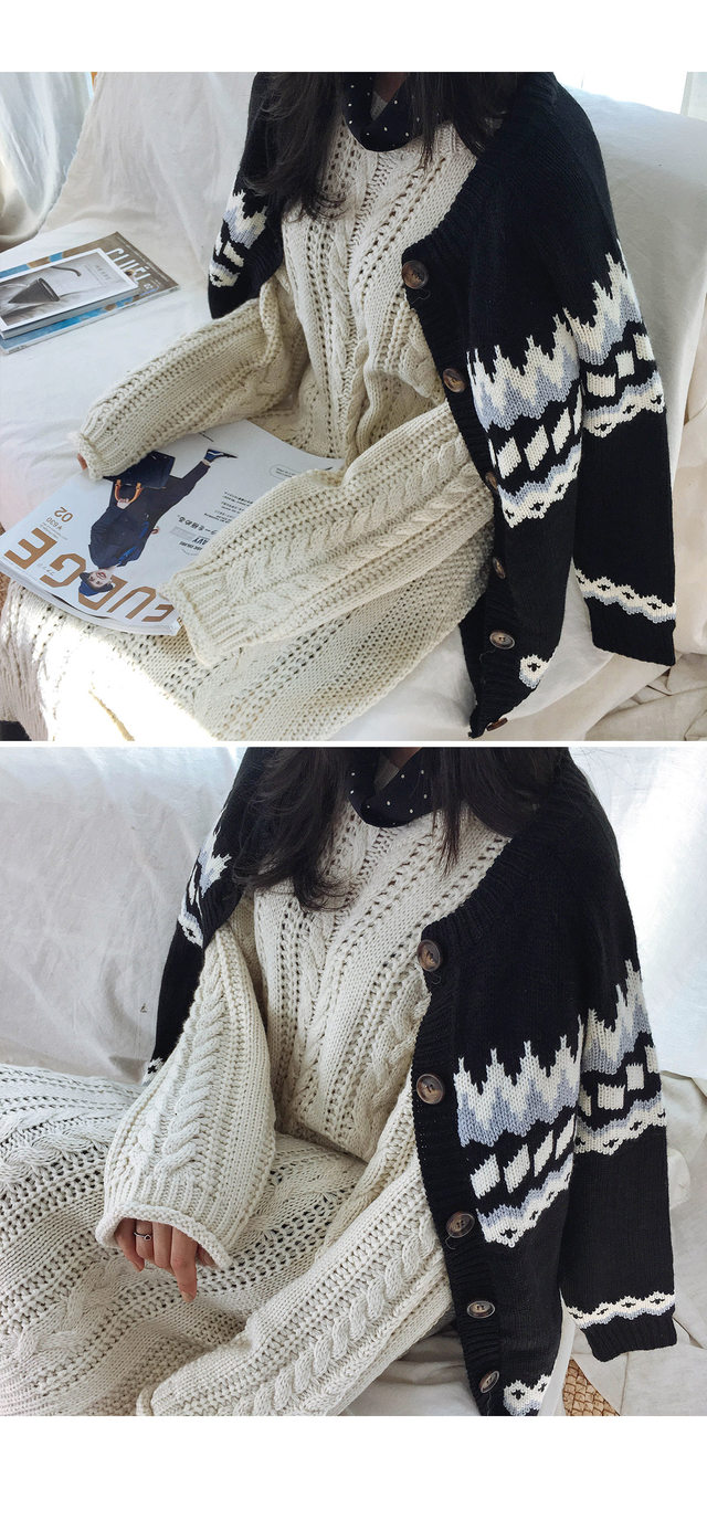 Nordic knitted cardigan