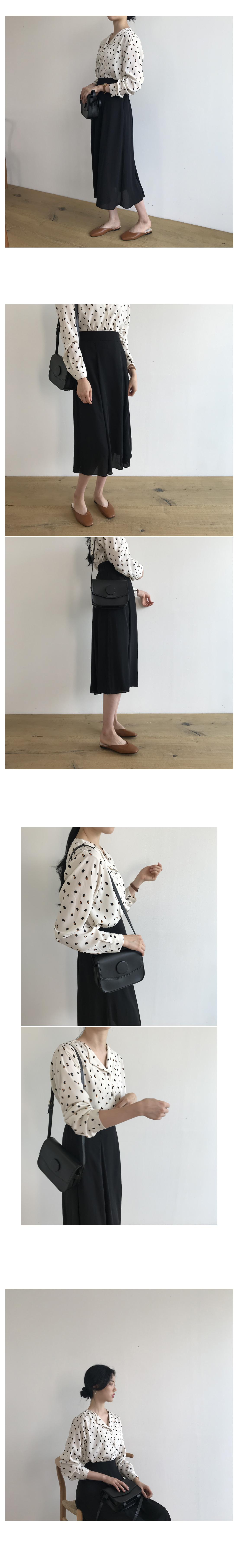 Rare chiffon top long skirt - Black ships same day