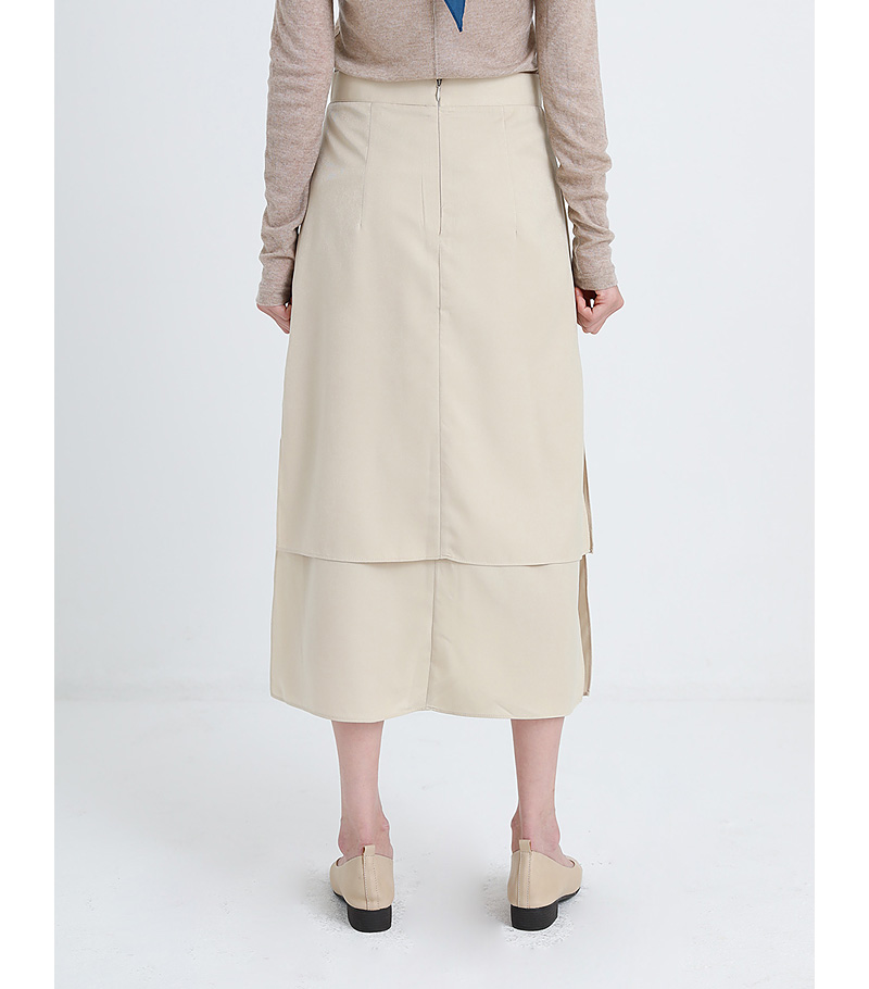 on double slit skirt (2colors)